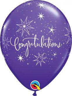 """11"""" / 28cm 6szt Congratulations Retail Asst Qualatex #17982"""