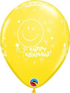 """11"""" / 28cm 6szt Retirement! Smile-Face-A-Round Retail Asst Qualatex #18061"""