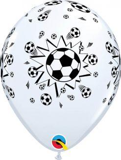 """11"""" / 28cm 6szt Soccer Balls White Qualatex #18062"""