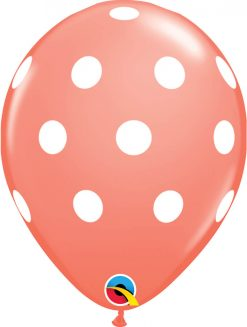 "11"" / 28cm 6szt Big Polka Dots Retail Assortment Qualatex #18064"