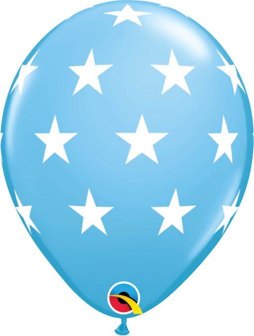 """11"""" / 28cm Big Stars Asst of Pale Blue, Dark Blue Qualatex #18449-1"""
