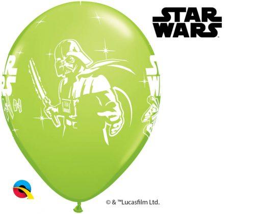 "11"" / 28cm Darth Vader & Yoda™ Asst of White, Lime Green, Onyx Black, Orange Qualatex #18666-1"