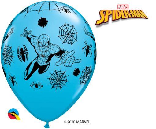 """11"""" / 28cm MARVEL'S Spider-Man Asst of Red, White, Yellow, Robin's Egg Blue Qualatex #18671-1"""