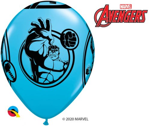 "11"" / 28cm MARVEL'S Avengers Assemble™ Assot of Red, Lime Green, Goldenrod, Robin's Egg Blue Qualatex #18673-1"