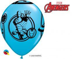 """11"""" / 28cm MARVEL'S Avengers Assemble™ Assot of Red, Lime Green, Goldenrod, Robin's Egg Blue Qualatex #18673-1"""