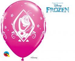 "11"" / 28cm Disney Frozen Birthday Asst of Wild Berry, Purple Violet, Caribbean Blue, Robin's Egg Blue Qualatex #18676-1"