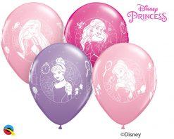 """11"""" / 28cm Disney Princess Cameos Asst of Wild Berry, Pink, Spring Lilac Qualatex #18679-1"""
