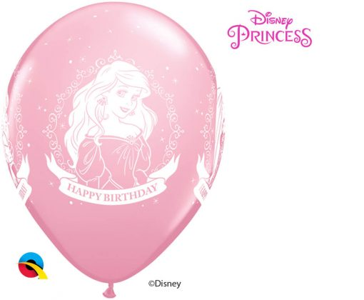 "11"" / 28cm Disney Princess Birthday Asst of Wild Berry, Pink, Spring Lilac Qualatex #18684-1"
