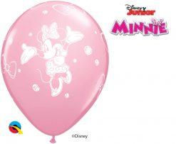"11"" / 28cm Disney Minnie Asst of Wild Berry, Pink, Rose Qualatex #18685-1"