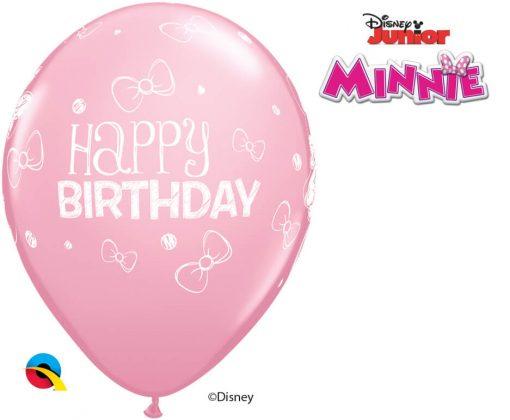 "11"" / 28cm Disney Minnie Mouse Birthday Asst of Wild Berry, Pink, Rose Qualatex #18686-1"