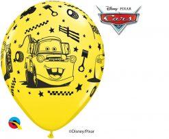 "11"" / 28cm Disney•Pixar Lightning McQueen & Mater Asst of Red, Lime Green, Yellow, Orange Qualatex #18706-1"