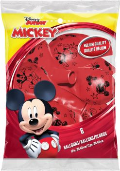 "12"" / 30cm 6szt Disney Mickey Red Qualatex #19231"