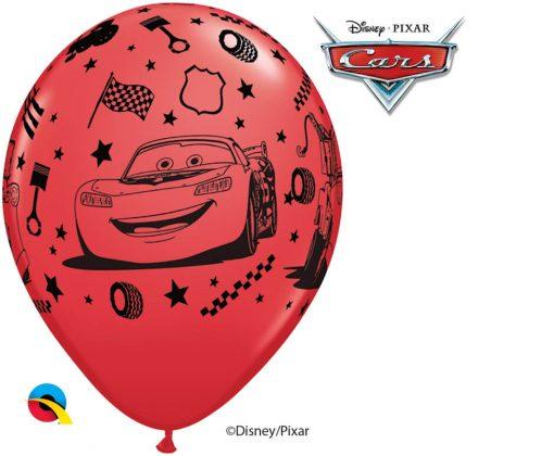 "12"" / 30cm 6szt Disney•Pixar Lightning McQueen & Mater Red Qualatex #19233"