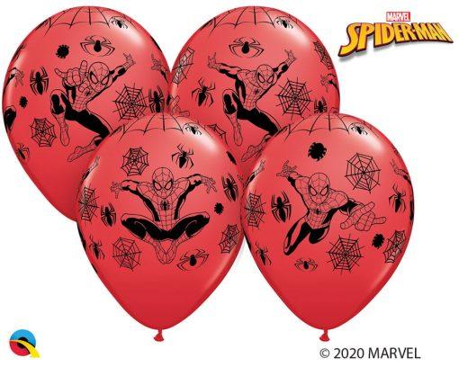 "12"" / 30cm 6szt MARVEL'S Spider-Man Red Qualatex #19305"