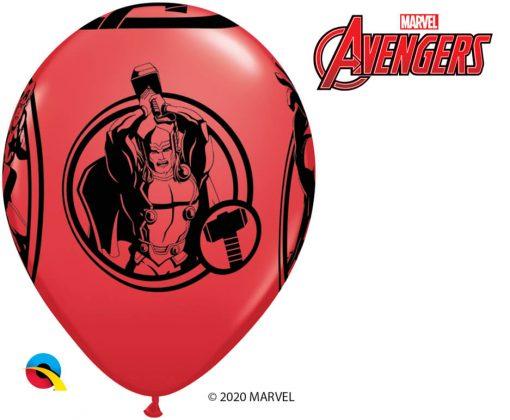 "11"" / 28cm 6szt MARVEL'S Avengers Red Qualatex #19332"
