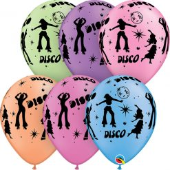 "11"" / 28cm Disco Neon Asst Qualatex #21575-1"