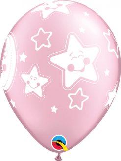 "11"" / 28cm Baby Moon & Stars Pearl Pink Qualatex #24940-1"