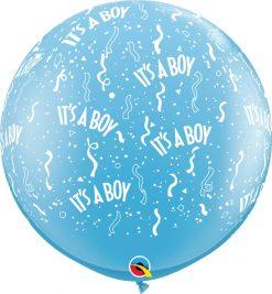 3' / 91cm It's A Boy-A-Round Pale Blue Qualatex #29167-1