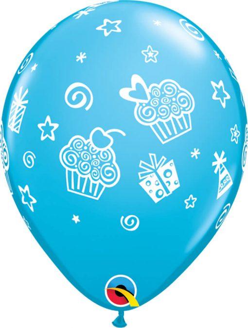 """11"""" / 28cm Cupcakes & Presents Tropical Assortment Qualatex #31227-1"""