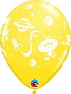 "11"" / 28cm Aliens & Space Ships Carnival Asst Qualatex #31470-1"