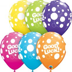 "11"" / 28cm Good Luck Dots Tropical Asst Qualatex #36977-1"
