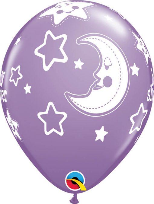 "11"" / 28cm Baby Shower Moon & Stars Qualatex #36982-1"