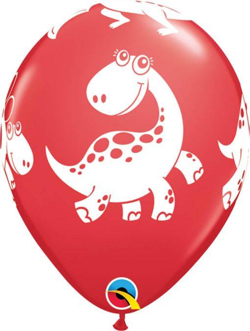 "11"" / 28cm Cute & Cuddly Dinosaurs Festive Asst Qualatex #36985-1"