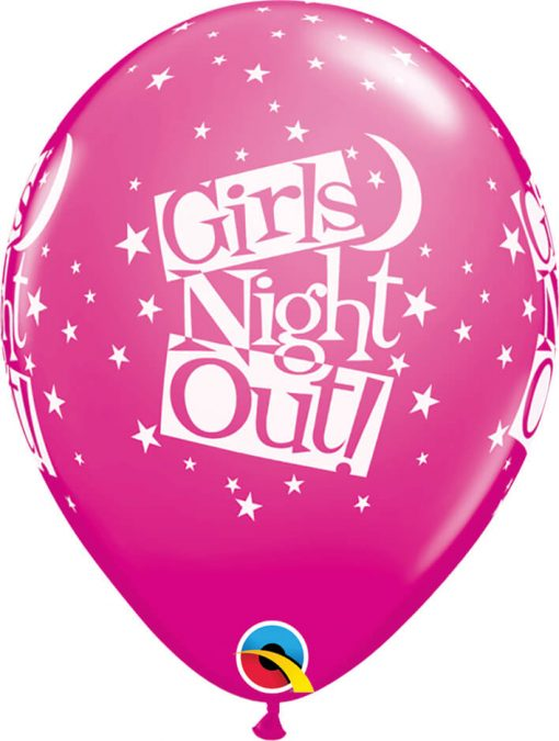 "11"" / 28cm Girls Night Out Stars Asst of Wild Berry, Onyx Black Qualatex #36986-1"