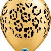 """11"""" / 28cm Leopard Spots Gold Qualatex #37042-1"""