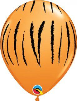 "11"" / 28cm Tiger Stripes Orange Qualatex #37043-1"