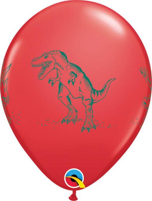 "11"" / 28cm Dinosaurs in Action Festive Asst Qualatex #37097-1"