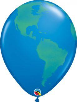 16″ / 41cm Globe Dark Blue Qualatex #39596-1