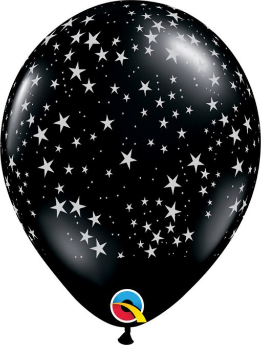 "11"" / 28cm Stars-a-Round Onyx Black Qualatex #39798-1"