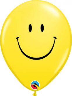 "11"" / 28cm Smile Face Yellow Qualatex #39803-1"