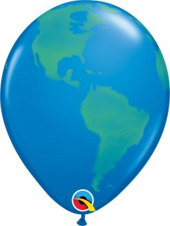 "11"" / 28cm Globe Dark Blue Qualatex #39846-1"