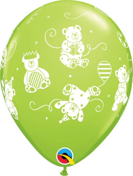"11"" / 28cm Cute & Cuddly Bears Tropical Assortment Qualatex #41095-1"
