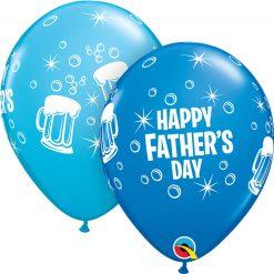 "11"" / 28cm Father's Day Beer Mug Asst of Dark Blue, Robin's Egg Blue Qualatex #42691-1"