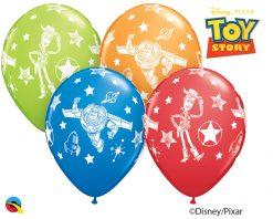 "11"" / 28cm Disney•Pixar Toy Story Asst of Red, Lime Green, Dark Blue, Orange Qualatex #42840-1"