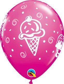 "11"" / 28cm Ice Cream Treats Tropical Asst Qualatex #44797-1"