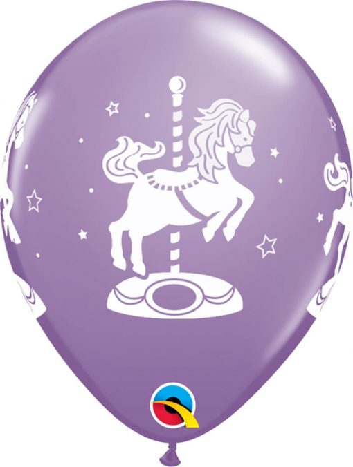 """11"""" / 28cm Carousel Horses Sorbet Asst Qualatex #45390-1"""