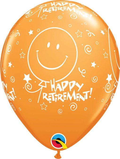 "11"" / 28cm Retirement! Smile Face-A-Round Tropical Asst Qualatex #46106-1"