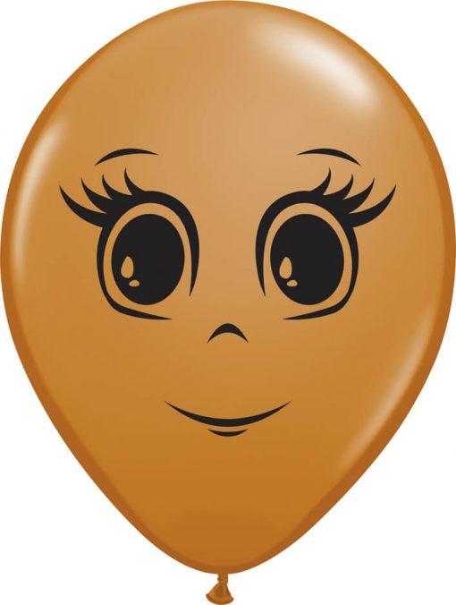 16″ / 41cm Feminine Face Mocha Brown Qualatex #49978-1