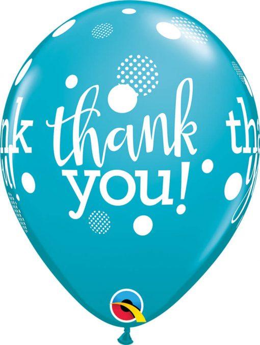 "11"" / 28cm Thank You Dots Upon Dots Festive Asst Qualatex #50206-1"