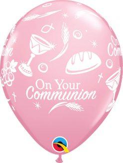 "11"" / 28cm 6szt Communion Symbols Pink Qualatex #53439"