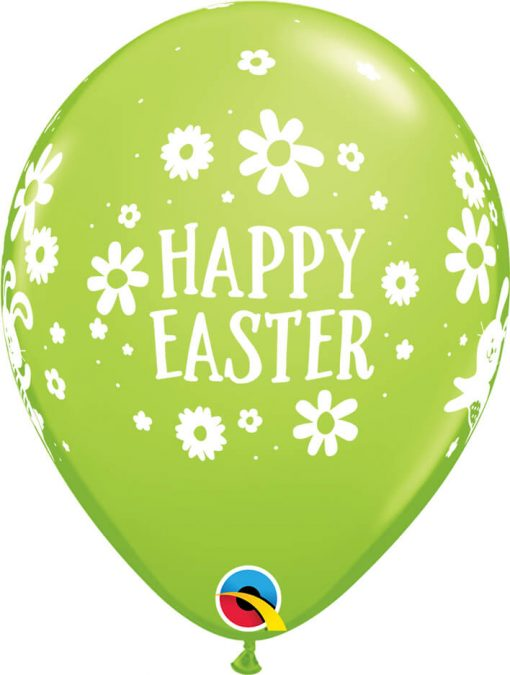 """11"""" / 28cm Easter Bunnies & Daisies Qualatex #57185-1"""