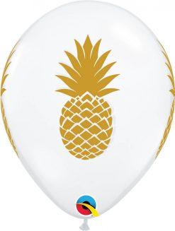 "11"" / 28cm Pineapple Diamond Clear Qualatex #57552-1"