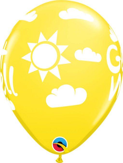 """11"""" / 28cm 6szt Get Well Sunshine Retail Asst Qualatex #57602"""