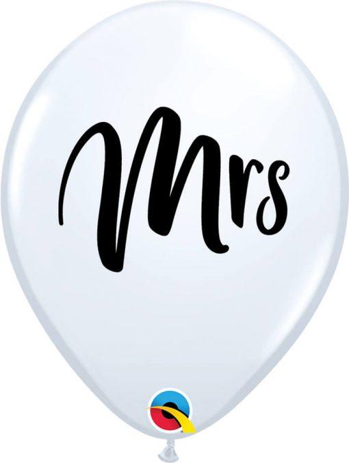 """11"""" / 28cm Mrs. White Qualatex #57778-1"""