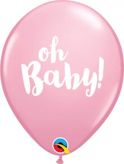 """11"""" / 28cm Oh Baby! Pale Pink Qualatex #58117-1"""