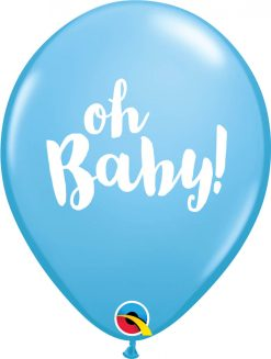 "11"" / 28cm Oh Baby! Pale Blue Qualatex #58118-1"